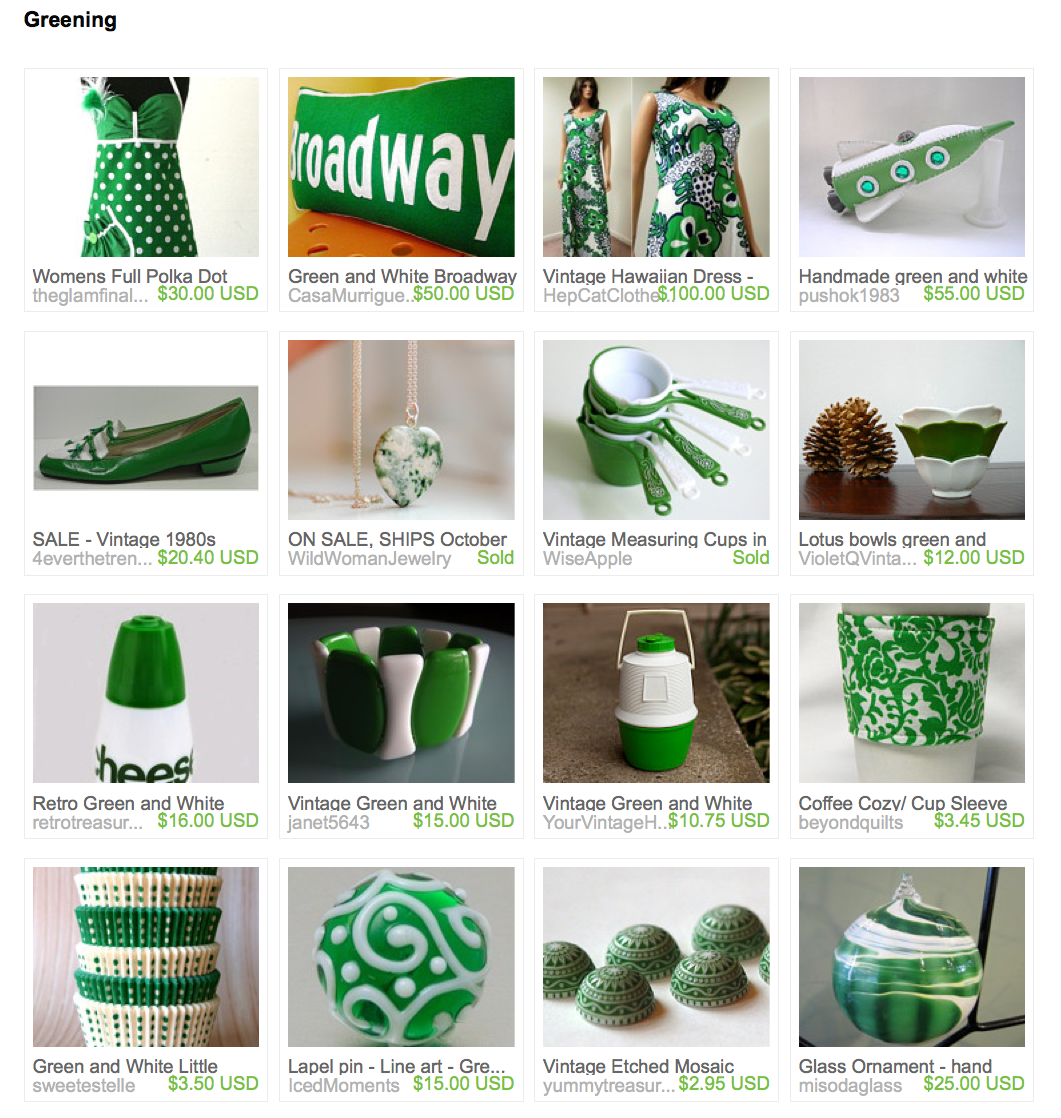 Greening: Etsy treasury