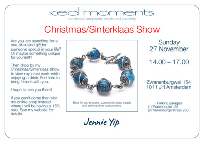 Invitation to the Iced Moments Christmas Show